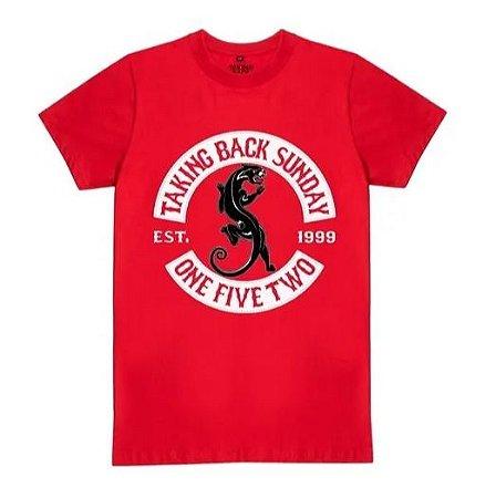 """Taking Back Sunday """"Panther"""" Camiseta Vermelha"""