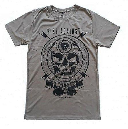 """Rise Against """"Arsenal"""" Camiseta Marrom"""