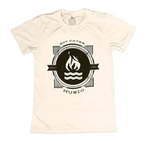 """Hot Water Music """"One Color"""" Camiseta Creme"""