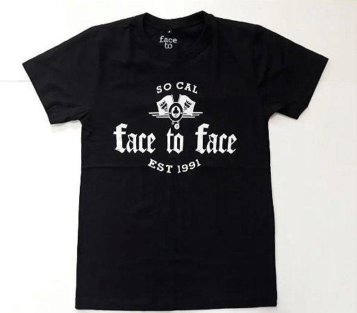 """Face To Face """"Stone Bridge"""" Camiseta Preta"""