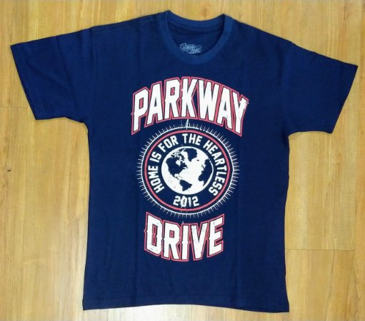 """Parkway Drive """"Home Is for the Heartless"""" Camiseta Azul"""