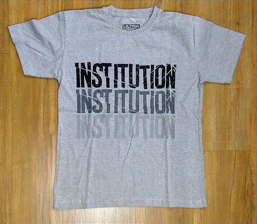 """Institution """"Morte"""" Camiseta Cinza Mescla"""
