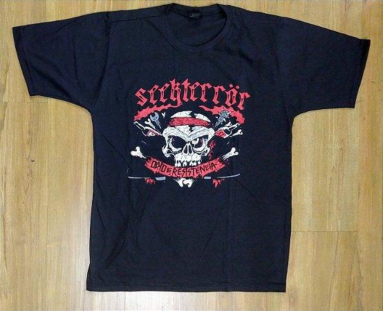 """Seekterror """"Ódio e Resistência"""" Camiseta Preta"""