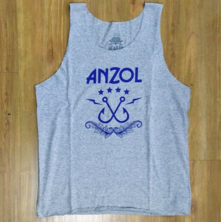 "Anzol ""Logo"" Regata Cinza Mescla"