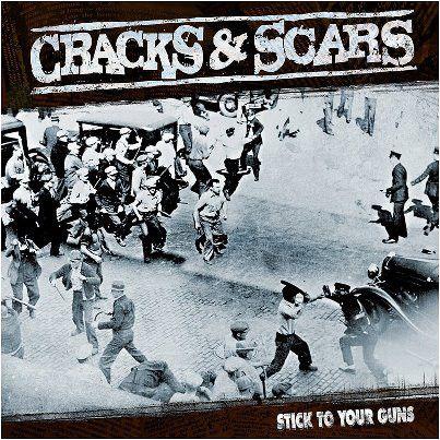 "Cracks & Scars ""Stick To Your Gun"" Vinil 12"" Preto"