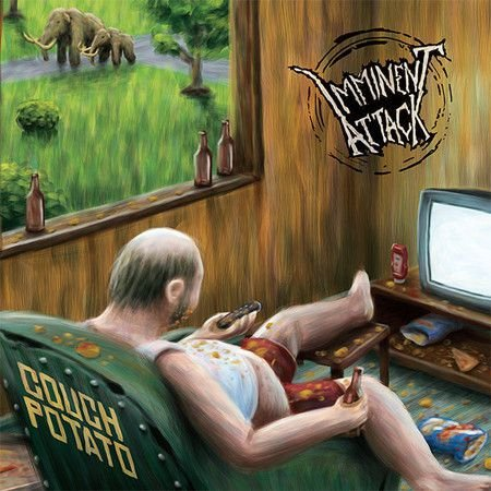 "Imminent Attack ""Couch Potato"" Vinil 7"" Preto"