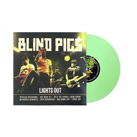 """Blind Pigs """"Lights Out"""" Vinil 10"""" Verde"""