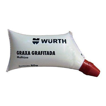 Graxa Grafitada Bisnaga 80g Wurth
