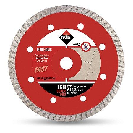 Disco Diamante de Corte TCR 115mm Super Pro - RUBI