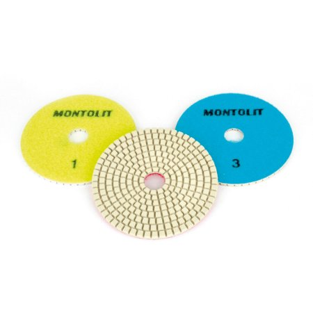 Kit Discos para Polimento Pads  3 Discos Montolit