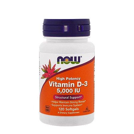 Vitamina D3 5000ui, 120 softgels - Now Foods