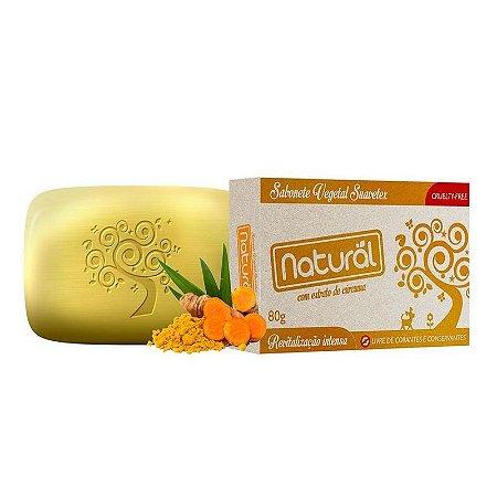 Sabonete Natural Orgânico de Cúrcuma, 80g - Suavetex
