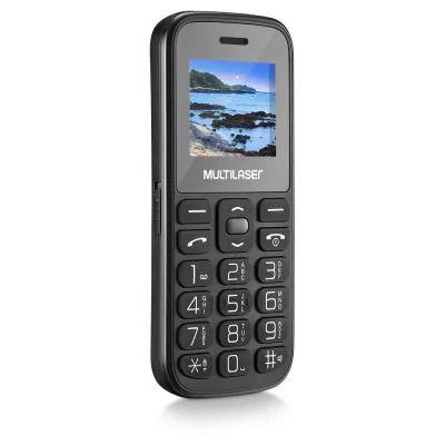 """Celular Vita IV Tela 1.8"""" Dual Chip 2G Bluetooth Preto P9120"""