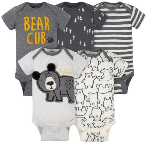 Kit Bodysuit Urso 5pç