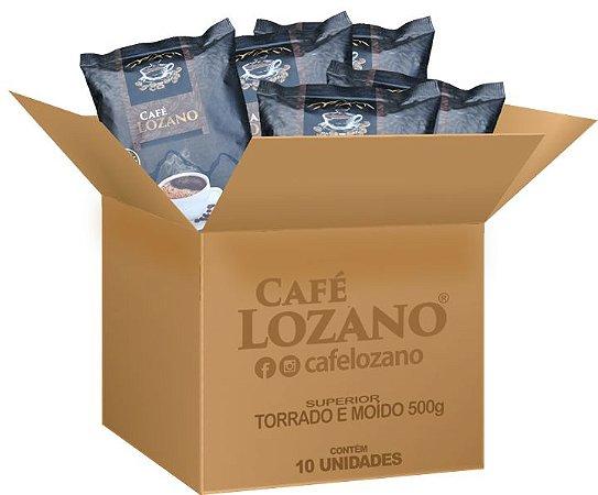 Café Lozano Torrado e Moído 500g. - Caixa com 10 unidades