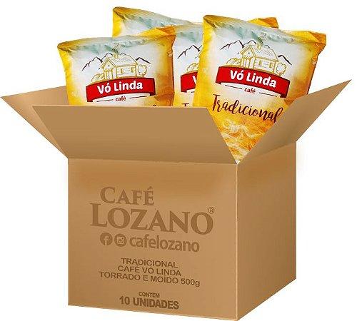 Café Vó LindaTorrado e Moído 500g. - Caixa com 10 unidades
