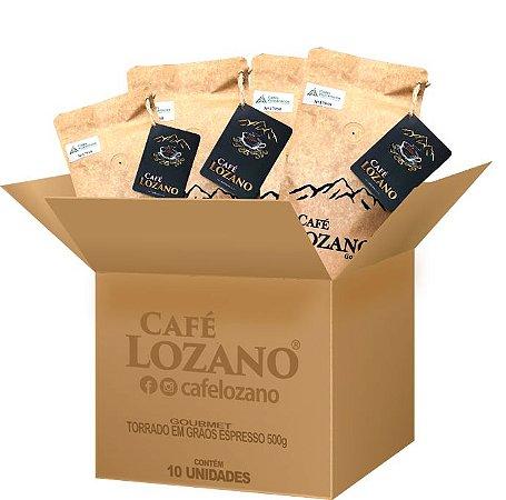 Gourmet 500g. Grão Espresso - Caixa com 10 unidades