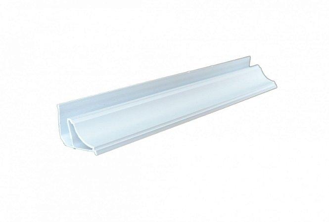 Meia Cana PVC Moldura Branca c/6m