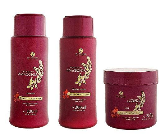 Kit Tratamento Açaí Cupuaçu e Guaraná Riquezas da Amazônia Hair Princess