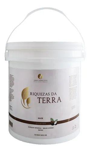 Máscara Riquezas Da Terra Óleo De Coco Hair Princess 3,5kg