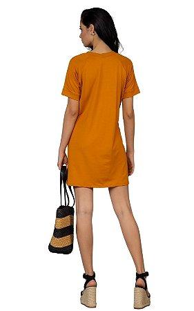 Vestido Moletinho Ragla Fernanda Mostarda