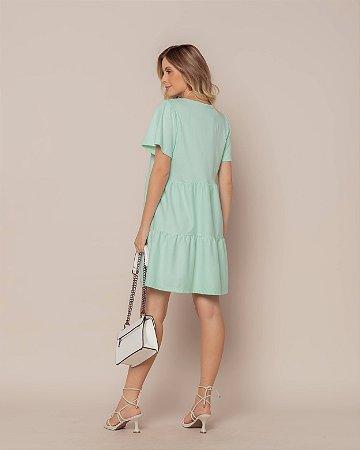 Vestido Malha Curto Verde Mint Nani