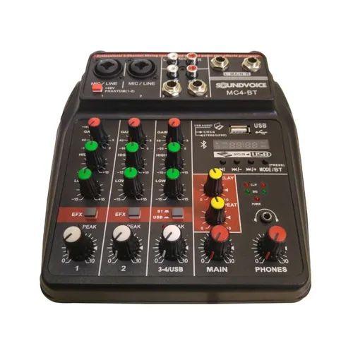Mesa De Som Compacta Soundvoice MC4-BT