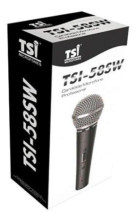 Microfone Profissional Com Fio TSI-58SW