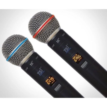 Microfone Sem Fio Duplo TSI-900-UHF