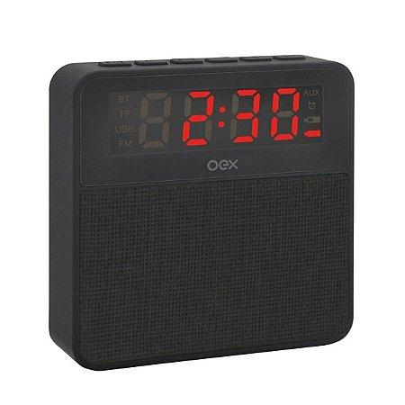 Caixa de som Relógio clock speaker wake CS100 - OEX