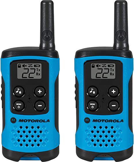Rádio Comunicador com alcance 25 Km Talkabout Azul T100BR Motorola CX 2 UN