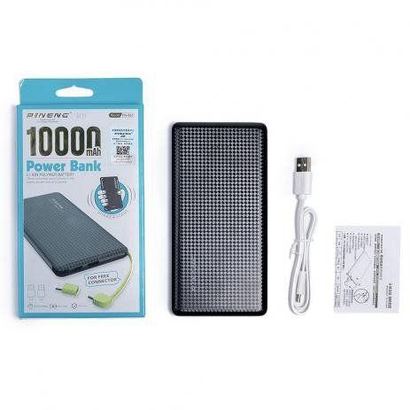 Carregador Portátil Power Bank Pineng Pn-951 Slim 10000 mah
