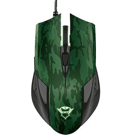 Kit Mouse e Mousepad TRUST GXT 781 rixa camuflado verde T23611