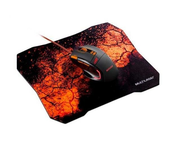 Combo Mouse Gamer 3200DPI + Mouse Pad QuickFire Multilaser - MO256