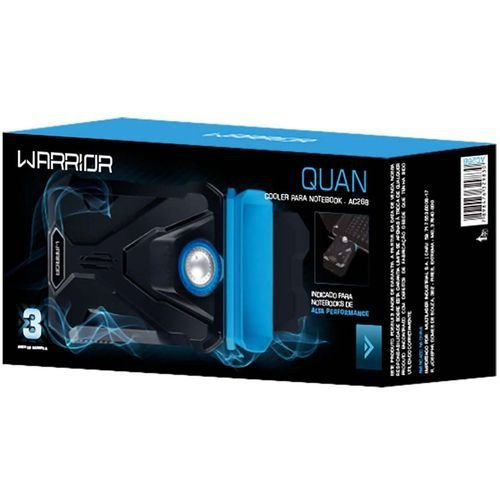 Base Gamer Warrior Heat Extractor com Cooler para Notebook - AC268