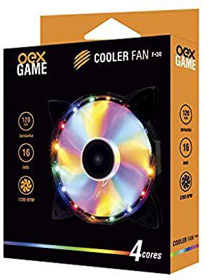Cooler Fan F30 16 LED Colorido 12cm - OEX