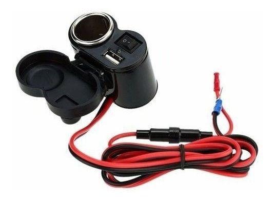 Carregador de smartphone USB para colocar em Motocicletas e acendedor - Soquetes À Prova D' Água