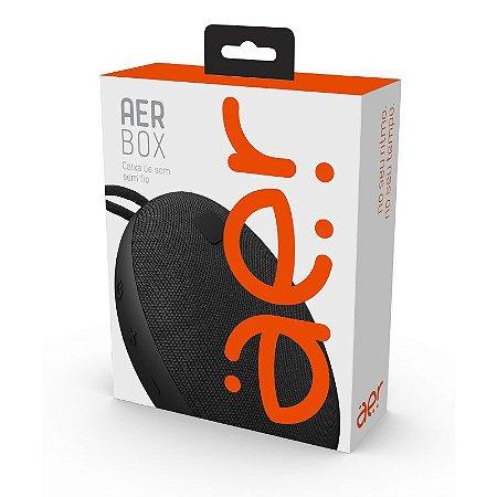 Caixa de Som Portátil AERCX01BK Aerbox sem Fio, Bluetooth, 5W, Resistente à Água - Geonav