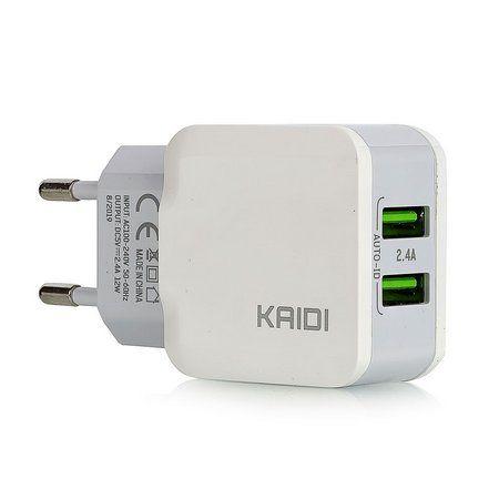 Carregador Turbo Celular Smartphone 2 Usb - KAIDI