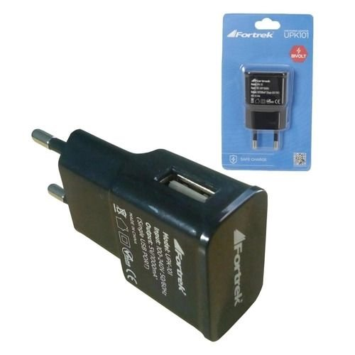 Fonte de Energia USB 2 Portas 2,1A UPK-121 Preto - FORTREK