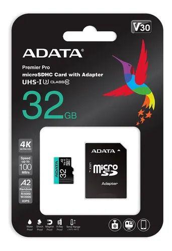 Cartão De Memória Premier Pro Micro Sdxc 32gb Classe10 - Adata