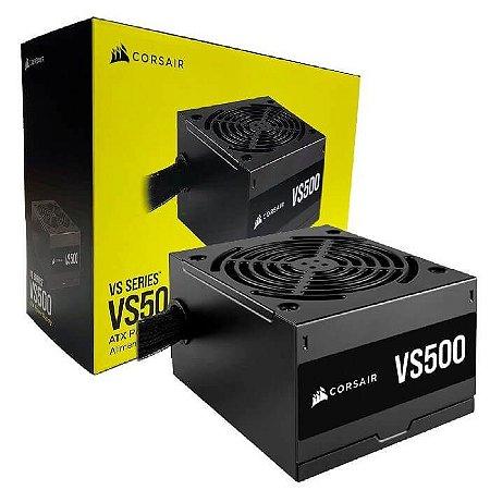Fonte VS500 500W 80 Plus - CP-9020223-BR - Corsair