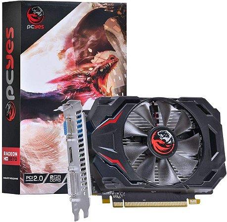 Placa de Vídeo AMD Radeon 6570 GAMING EDITION 2GB DDR5 128 Bits - PJ65702DR5128 - PCYES