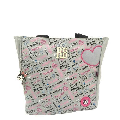 Bolsa Tote Bag Notebook Cinza - Rebecca Bonbon