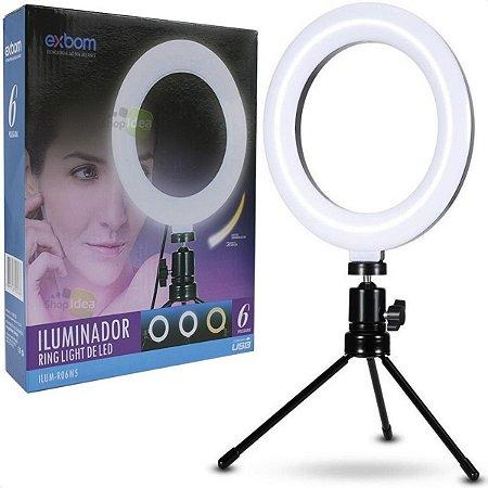 Iluminador Ring Light 6 Polegadas Usb Led Apoio Mesa Ro6w5