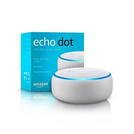 Echo Dot Alexa (3ª Geração) Smart Speaker - Cor Branca - Amazon
