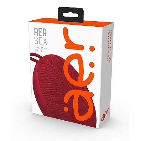 Caixa de Som Portátil Aerbox Bluetooth 5W Resistente à Água Vermelha - AERCX01R - Geonav
