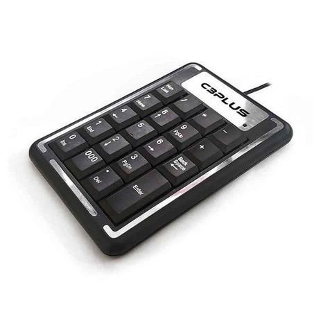 Teclado numérico USB KN-11BK preto - C3 PLUS