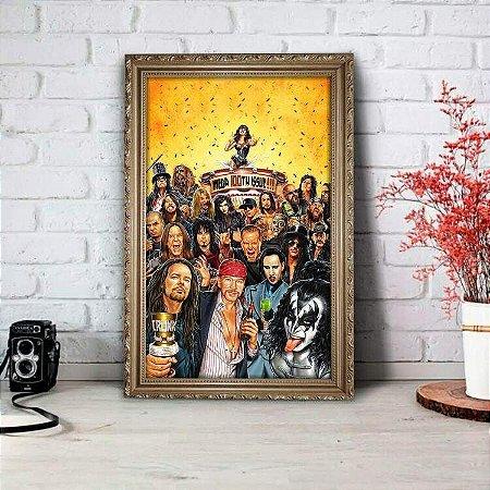 Placa Decorativa Bandas de Rock