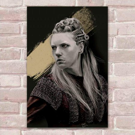 Placa Decorativa Vikings 8 Lagertha